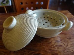 長谷園ヘルシー蒸し鍋古白釉